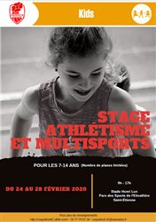 STAGE ATHLETISME & MULTISPORTS FEVRIER 2020