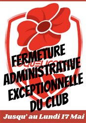 Fermeture ADMINISTRATIVE Exceptionnelle…